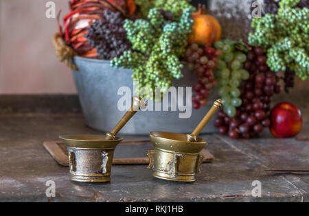 Still life composition in vintage style - Stock Image