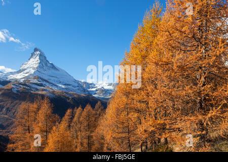 The Matterhorn, Valais, Switzerland - Stock Image