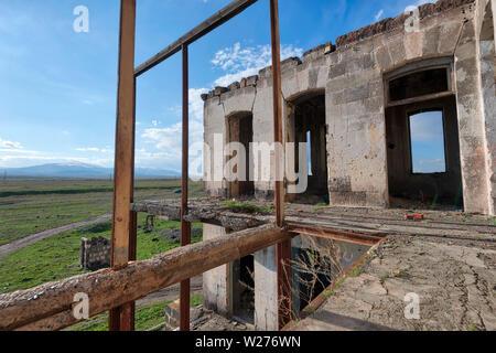 Abandoned Villages in Armenia, taken in April 2019rn' taken in hdr - Stock Image