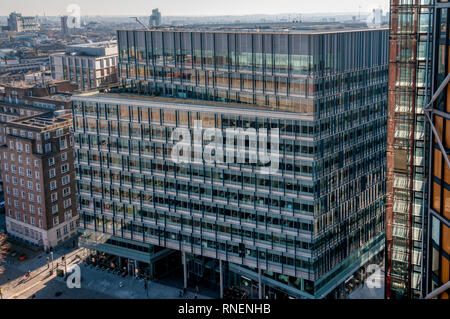 An elevated view of the Blue Fin Building at 110 Southwark Street, London, SE1. - Stock Image
