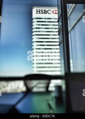HSBC Bank headquarters in Canary Wharf, Docklands, London. - Stock Image