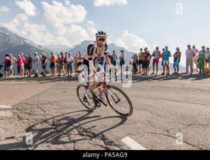 Laurens Ten Dam Tour de France 2018 cycling stage 11 La Rosiere Rhone Alpes Savoie France - Stock Image