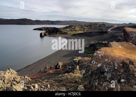 Reykjanesfólkvangur lake, Iceland - Stock Image
