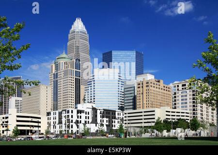 Charlotte, North Carolina, skyline. - Stock Image