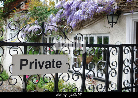 private garden Rye, East Sussex, United kingdom - Stock Image