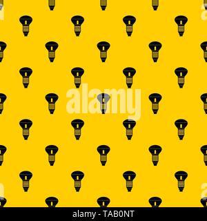 Led bulb pattern vector - Stock Image
