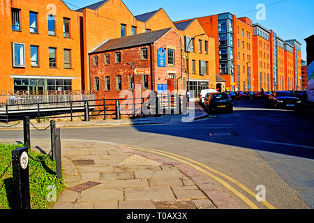 Alma street and Kelham Island Brewery, Sheffield, England - Stock Image