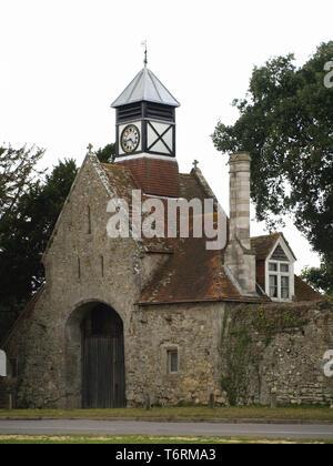 Beaulieu Clock and Clock Tower, New Forest, Hampshire, England, UK - Stock Image
