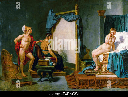Jacques-Louis David, Apelles Painting Campaspe in the Presence of Alexander the Great, 18th or 19th Century - Stock Image
