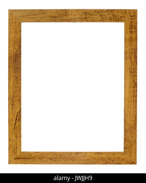 Natural wood Picture frame - Stock Image