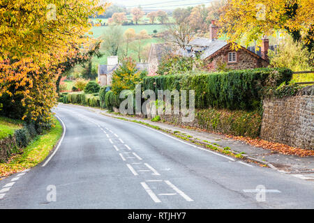 Autumn in the Cotswold village of Coleshill in Gloucestershire, England, UK - Stock Image