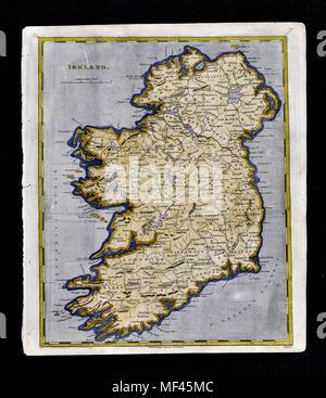 1804 Arrowsmith Map - Ireland - Dublin Limmerick Galway Londonderry Belfast - Stock Image