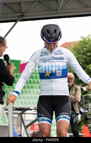 Marianne Vos European road race champion - Stock Image