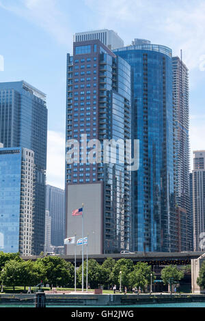 Chicago Skyline Michigan Lake Illinois - Stock Image