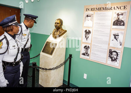 Miami Florida Overtown Black Police Precinct and Courthouse Museum grand opening ceremony community event history honor heritage - Stock Image