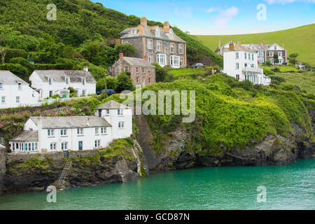 The cliffs at Port Isaac - Stock Image