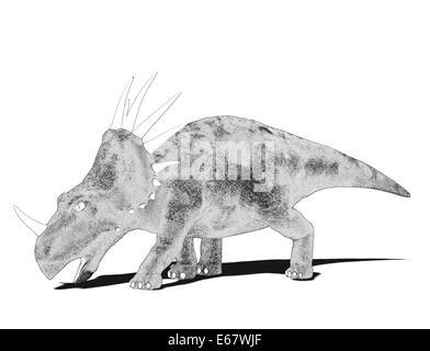 Dinosaurier Styracosaurus  / dinosaur Styracosaurus - Stock Image