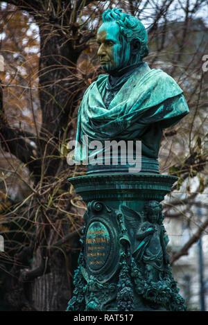 Memorial to Mayor Andreas Zelinka, Vienna City Park, 1st District, Vienna, Austria, Europe - Stock Image
