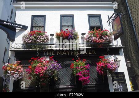 Mayflower Pub, Rothehithe Street, London SE16 - Stock Image
