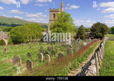 St. Margaret's church Hawes. Yorkshire Dales. - Stock Image