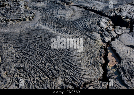 Volcanic rock formations, Galapagos Islands - Stock Image