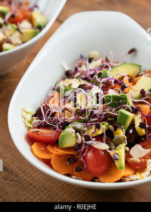 Mixed Salad with Sprouts and Seeds. - Stock Image