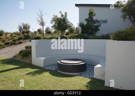 Front or back yard of a modern house - Stock Image