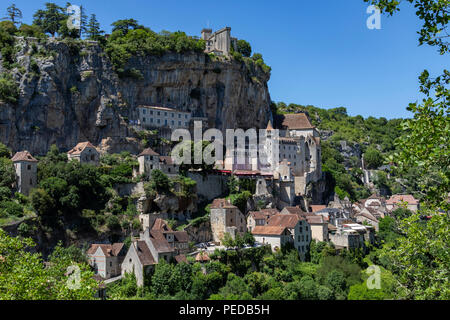 Rocamadour in the Lot department of southwestern France. - Stock Image