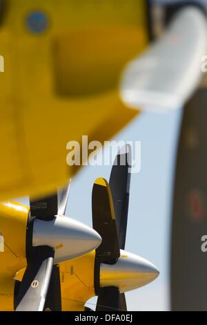 Turboprop engines and propellers - Stock Image