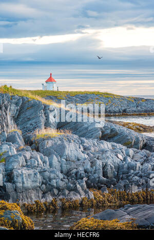 Rocky coast landscape in Northern Norway - Stock Image