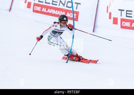 22 December 2018, Courchevel France Ladies Slalom Audi FIS Alpine Ski World Cup 2019 - Stock Image