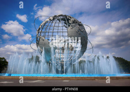 New York, USA – August 25, 2018:  The Unisphere World at Flushing Meadow Park in Flushing, Corona Park, New York, United States of America - Stock Image