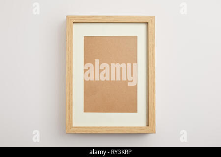 decorative square frame on white background - Stock Image