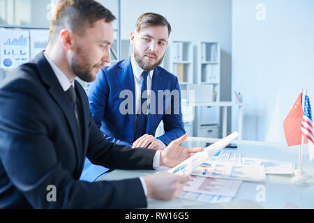 Contemporary brokers - Stock Image