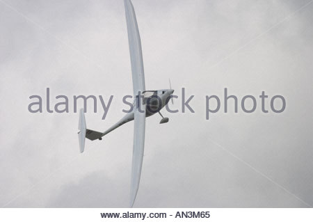 Ultralight Motorglider Sinus by Pipistrel 9A UDI Grobnik Croatia Air show 2005 - Stock Image