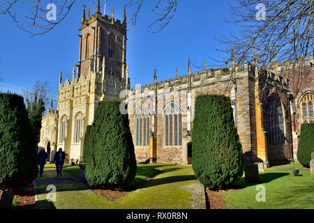 Front of St. Peter's Church, Tiverton, Devon, England, UK - Stock Image