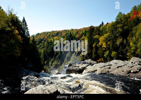 Colourful autumn foliage Canyon Sainte Anne - Stock Image