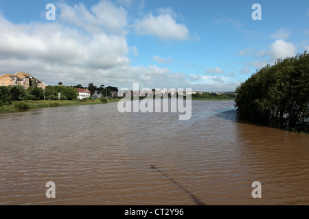 Weymouth and Radipole Lake gets flooded in July 2012 prior to the Olympics event held in Dorset - Stock Image