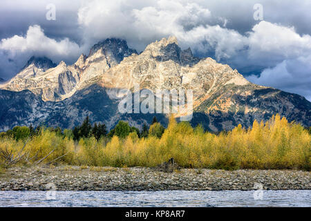 Snake River, Grand Teton, Jackson Hole, Wyoming, USA - Stock Image