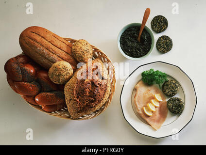 An Assortment of Breads - Stock Image