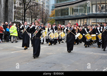 The Lord Mayor's Show, City of London, 13th November 2010 - Christ's Hospital School Band - Stock Image