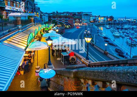 Westcliff Arcade,Restaurants,Ramsgate,Harbour,Thanet,Kent,England - Stock Image