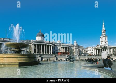 United Kingdom England London Trafalgar Square - Stock Image