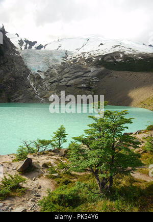 Trekking to Fitz Roy, Argentina - Stock Image