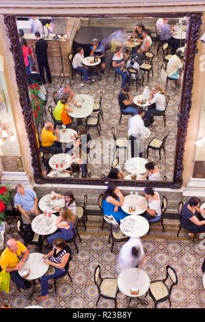 Rio de Janeiro, Brazil - November 2011:  Confeitaria Colombo Cafe and restaurant - Stock Image