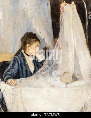 Berthe Morisot, The Cradle (Le Berceau), painting, 1872 - Stock Image
