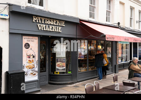 A Patisserie Valerie - cafe and casual dining - branch on Winchester High Street - Stock Image