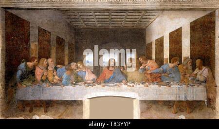 Italy Lombardy Milan Santa Maria delle Grazie Church - Last Supper - Stock Image