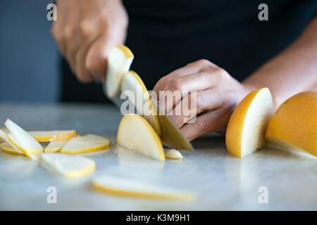 chopping ingredients - Stock Image