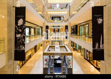 Pavilion Mall Interior View, Bukit Bintang, Kuala Lumpur, Malaysia. - Stock Image